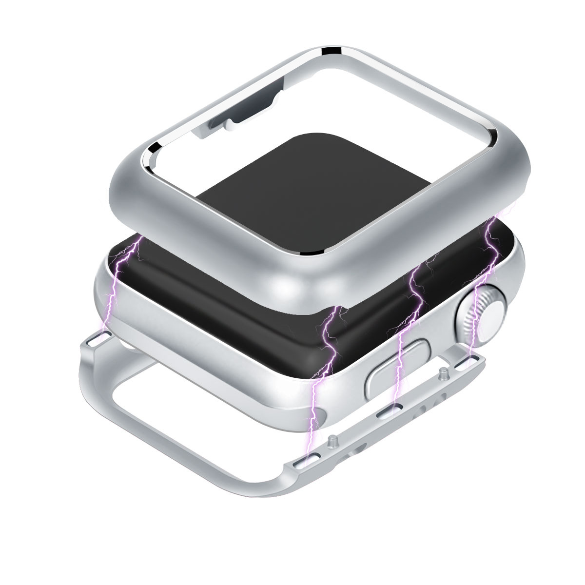 EIMO Protective case for apple watch band 4 44mm 40mm iwatch series 4 3 2 1 42mm 38mm magnetic adsorption technology aluminumEIMO Protective case for apple watch band 4 44mm 40mm iwatch series 4 3 2 1 42mm 38mm magnetic adsorption technology aluminum