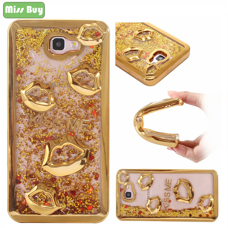 Missbuy 3D <font><b>Sexy</b></font> Lips Soft Phone Case for Samsung <font><b>J7</b></font> J2 J5 Prime Cover Glitter Sand <font><b>Funda</b></font> for Samsung J3 J5 <font><b>J7</b></font> 2017 J1 <font><b>2016</b></font> G530 image