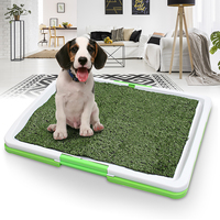Indoor Pet Dog Cat Grass Toilet Large Pet Cleaning Tray Holder Pad Mat Training Toilet Wee Loo Urine Easy Cleaning Supplies