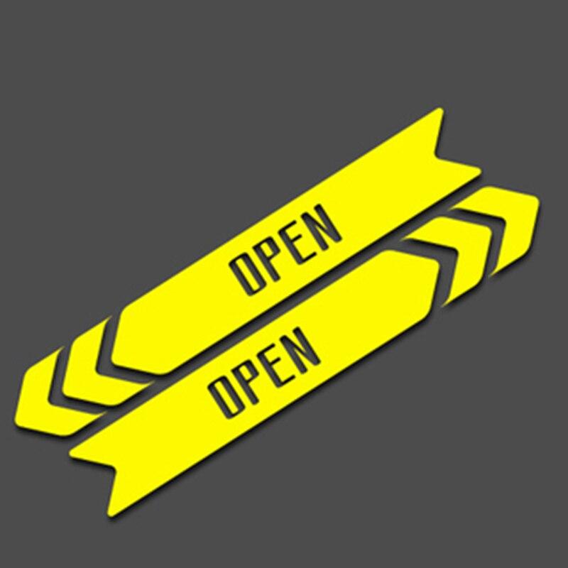 10/20 см красный/желтый открыть стрелка напоминание Предупреждение знак на стороне двери магистральных открытия двери край светоотражающие ...