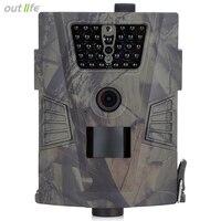 적외선 HT-001 HD 밤 비전 사냥 카메라 60 학위 감지 각도 야외 디지털 사냥 트레일 카메라 장치