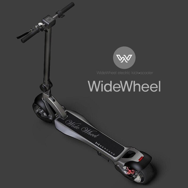 Scooter elétrico, roda larga 48v bateria de lítio 500w potência 45 km/h motor dobrável scooter elétrico duplo choque scooter scooter