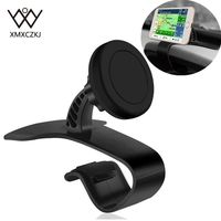 XMXCZKJ Newest Universal Adjustable Car Phone Holder Dashboard Magnetic Mount Holder Clamp Clip Stand For Mobile