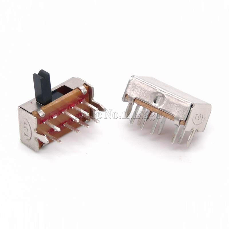 10Pcs SK23D07 8 Pin PCB 3 Position 2P3T DP3T Miniature Slide Switch Side Knob SK23D07VG5 Handle high 5mm new 50pcs lot miniature slide switch spdt 3 pin pcb 2 position 1p2t side knob handle high 3mm sk12d07vg3