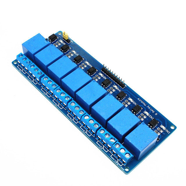 1pcs 5V 8-Channel Relay Module Board PIC AVR MCU DSP ARM Electronic 8 Channel Relay Module Board