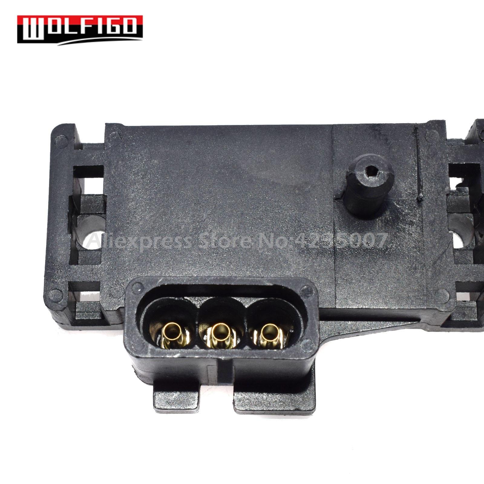 WOLFIGO NEW 1 Bar MAP Sensor W/ Pigtail Connector Plug For Chevy Buick  Pontiac Isuzu Jeep Cadillac 16254719,16175339,12247561
