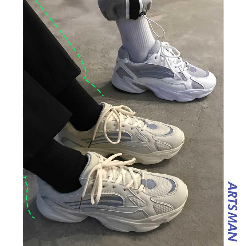 Unisex Vintage bố Nam Joker Giày kanye thời trang tây lưới nhẹ thoáng khí nam Giày casual nam Giày zapatos Hombre #700