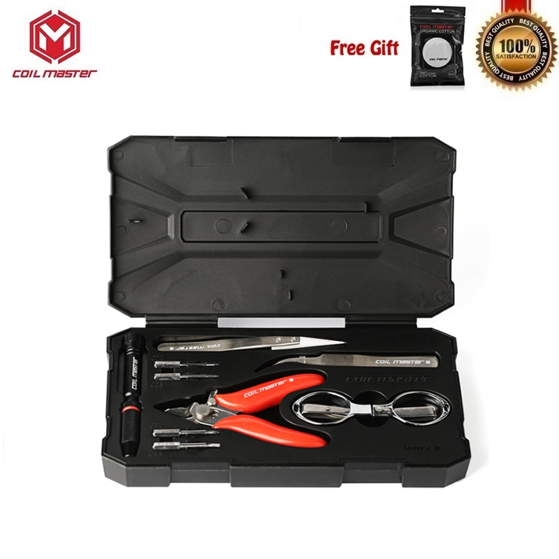 Coil Master DIY Kit Mini V2 RDA RBA Vape Tank Atomizer Coil Tool Bag Vaperizer All-in-One CoilMaster V2 E-Cigarettes Accessories