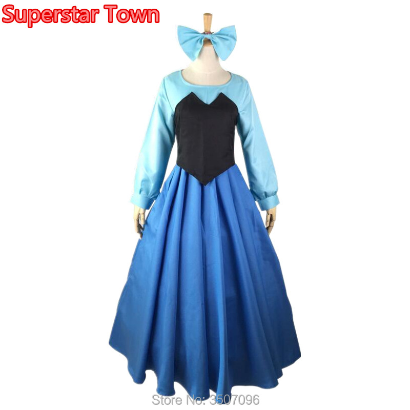 The Little Mermaid Ariel Cosplay Costume Adult Women Fancy Party Dresses Halloween Stage Dance Princess Performance