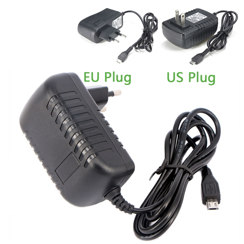 цена на Power Adapter Supply DC 5V 3A 2.5A 2A Micro USB 5 V Volt AC/DC Power Adapter Charger EU US Plug For Raspberry Pi Zero Tablet Pc
