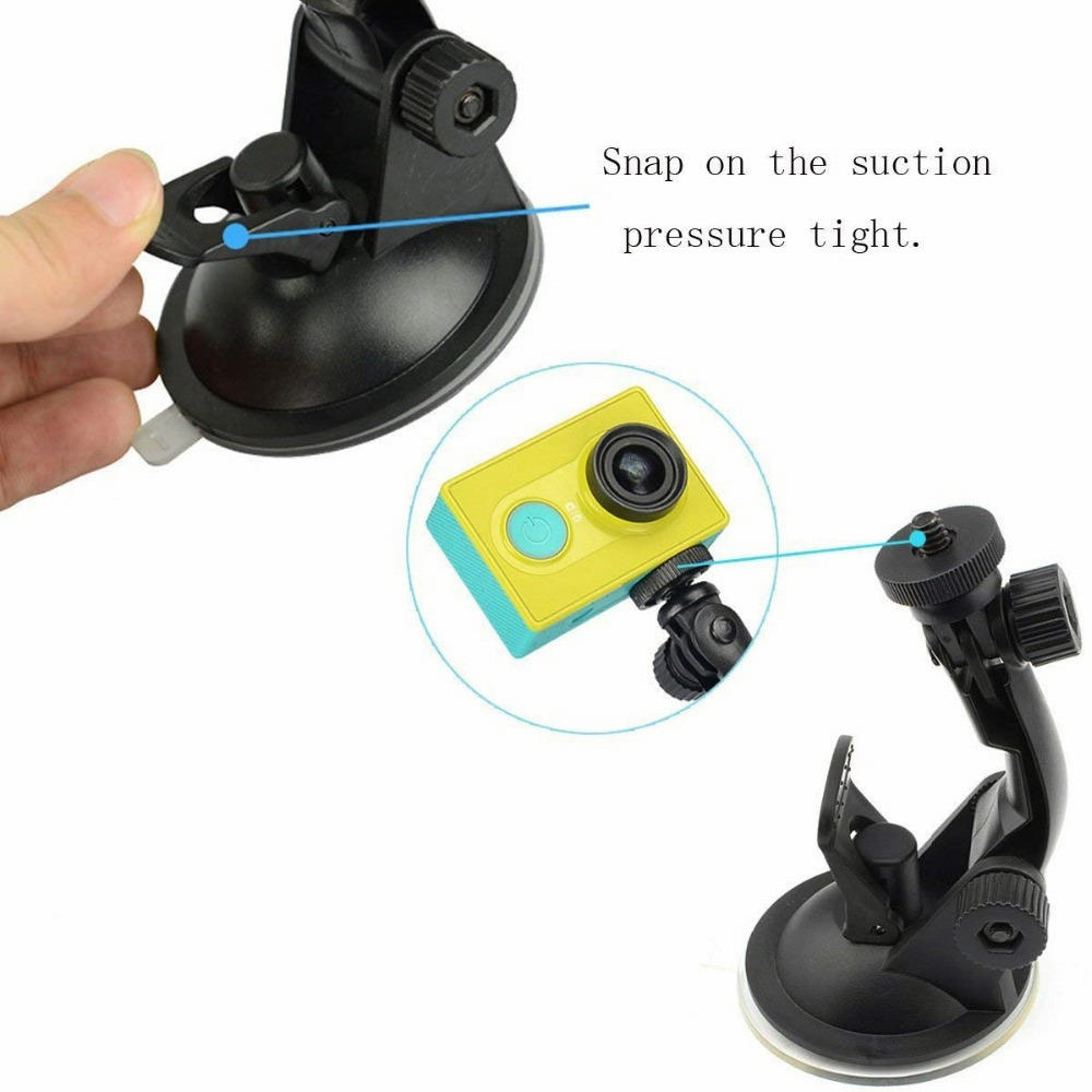 Glass Suction cup action camera sport Cam Tripod Mount for car DVR holder stand Bracket for gopro hero 7 6 5 4 yi2 accessories   (4)
