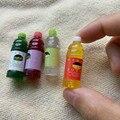 4 Garrafas Bolltes Suco de Casa De Bonecas Em Miniatura Mini Food Drink Duice Educação Precoce Brinquedos 1:12 Simulação de Alimentos