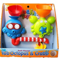 Sozzy Baby Bath Playest Tub Toy Water The Octopus Crabs Interest Bathing Toys Waterproof Tub Baby