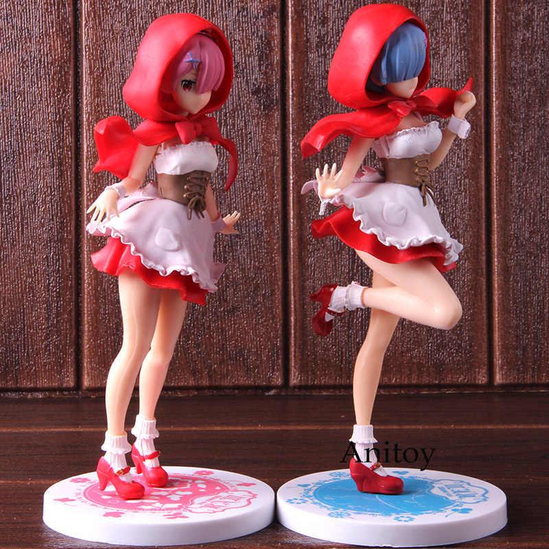 Re Zero пусковая жизнь в другом мире Rem Ram Red Hood SSS Рисунок ПВХ аниме Re: Zero фигурка Коллекционная модель игрушки