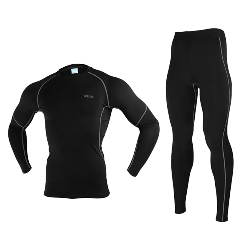 Breathable Thermal Skiing Underwear Set Men Long Johns Winter Warm Up Ski Jacket And Pants Anti-sweat Clothing