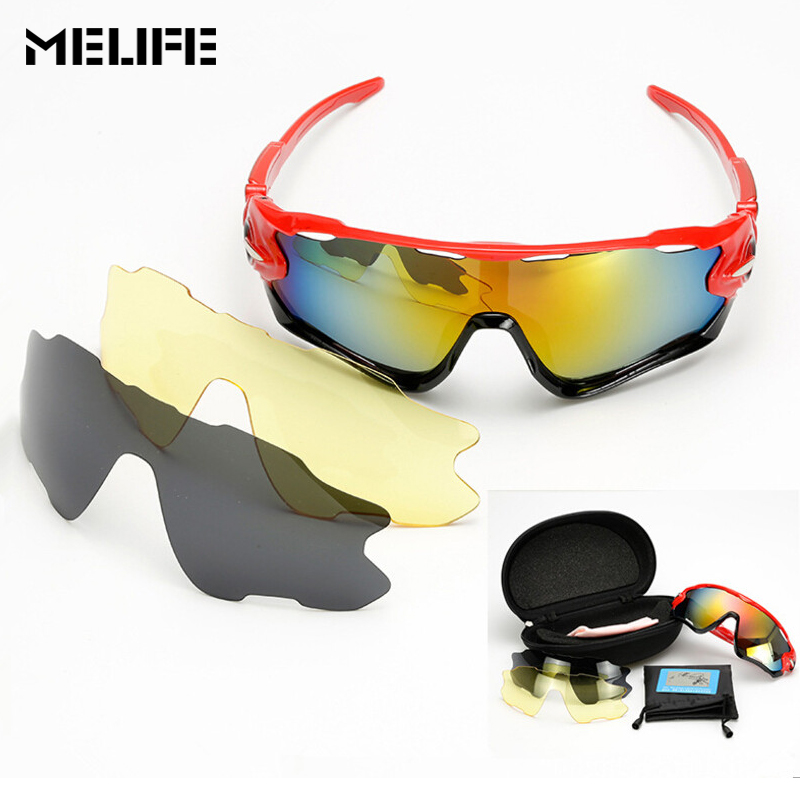 17e36f9ee16 MELIFE Polarized UV400 Skiing Glasses Cycling Bike Eyewear Unisex Sports  Sunglasses Fishing Men Outdoor Motocross Eyewear Goggle-in Skiing Eyewear  from ...