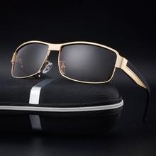 Men Square Polarized Sunglasses Brand Designer Vintage High Quality UV400 Protect Sun Glasses Metal Frame Eyewear