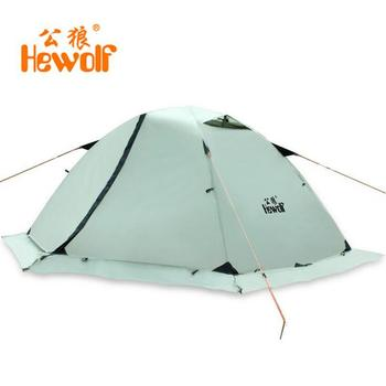 цена на Hewolf Outdoor Four Seasons 2 person winterized winter tent Double layer Beach Tourist camping tent snow skirt