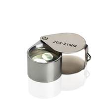 Portable 20 x 21mm Jewelry Magnifying Glass 20X Folding Magnifier Loupe
