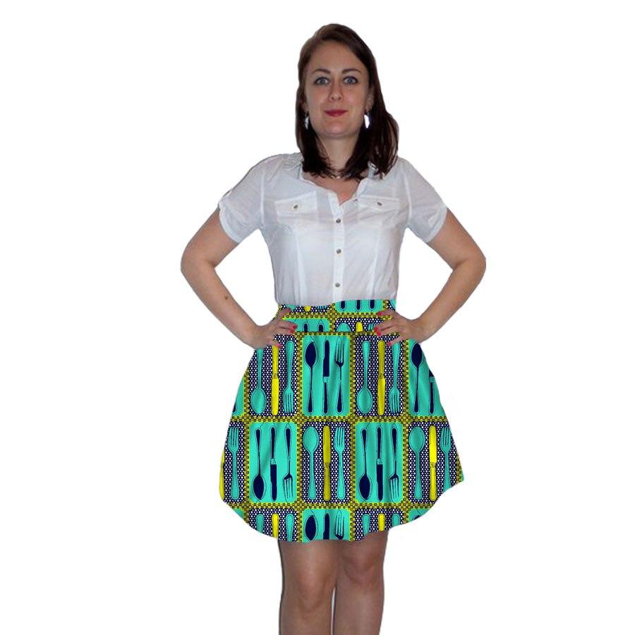 2018 Wax Fashion Summer Women Skirts African Women Clothing For Women Print Cotton Skirts Costume Customized Women Clothes