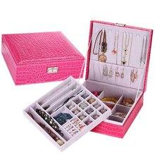 Высококачественная Кожаная Шкатулка Bilayer Европейский и Американский Стиль Мода Ювелирные Изделия Классифицируются Коробка С Замком