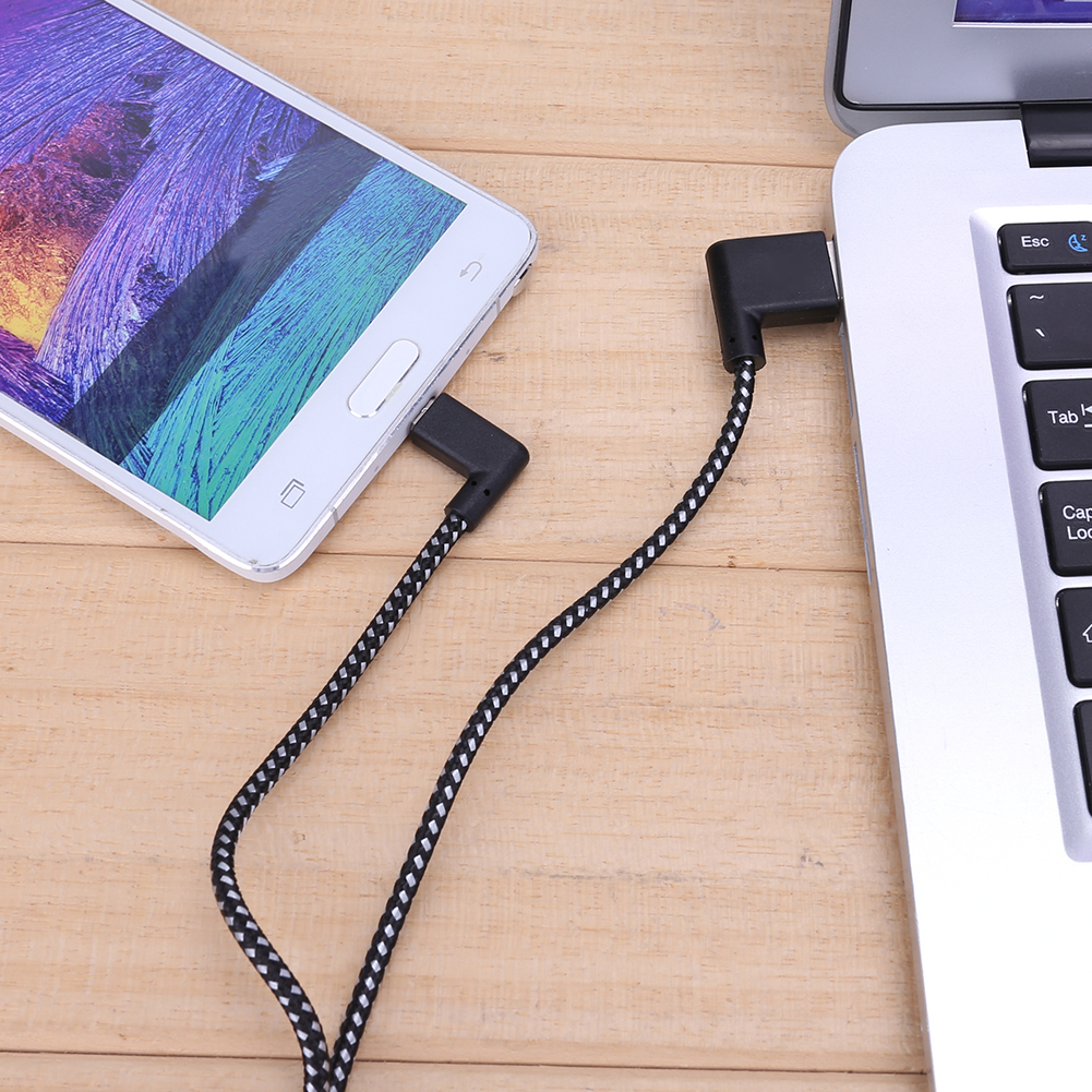 ZL06 R  Connector Micro Usb Charging Cable 90 Degree Right Angle Black Nylon Braid Data Sync Transfer Cord Wire LineZL06 R  Connector Micro Usb Charging Cable 90 Degree Right Angle Black Nylon Braid Data Sync Transfer Cord Wire Line