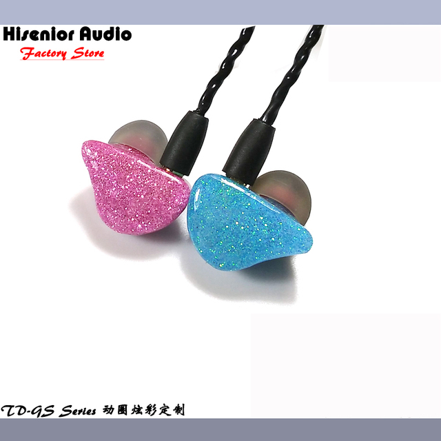 Hisenior GS Sparkle Faceplate Super Bass Dynamic Driver In-Ear Monitor Noise Cancelling Universal Fit IEMs Hifi Custom Earphone