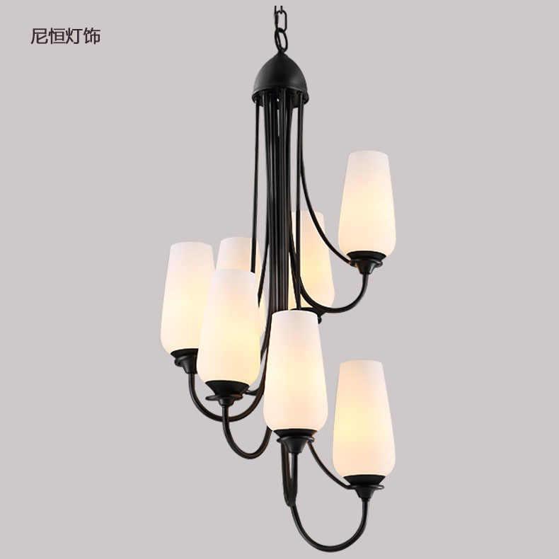 Светодиодный люстры освещение гостиной скандинавские подвесные светильники приспособления для кафе Лестницы подвесные светильники Ретро подвесные светильники