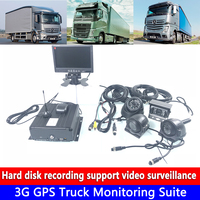 Audio and video 4 channel monitoring 256G SD card cyclic recording 3G GPS truck monitoring set heavy machinery / excavator