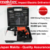 Japan Makita Maktec MT817 Impact Drill Multifunction Speed Dual Use Electric Hand Drill With full Set Various Types Drill Bits