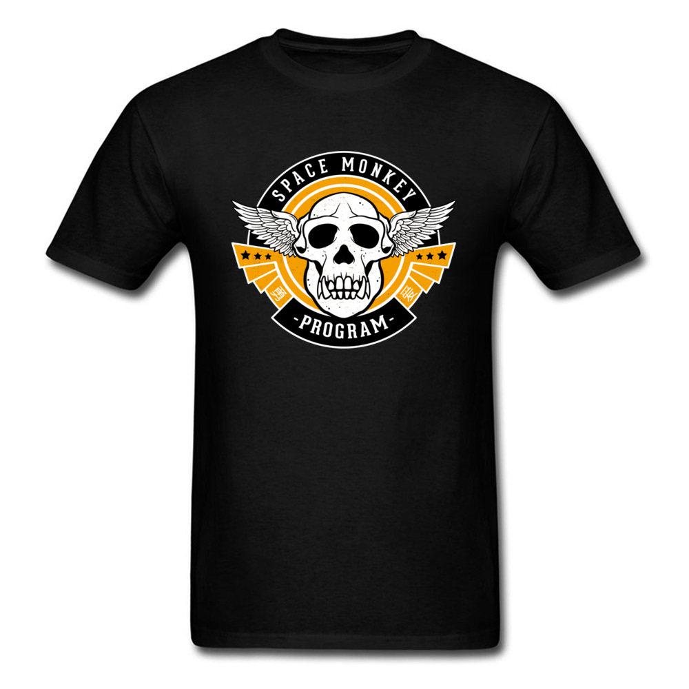 Space Monkey Skull Cheaper Men's Tshirt Awesome Designs Round Collar Skull Geek T Shirts For Men Summer Clothing Short