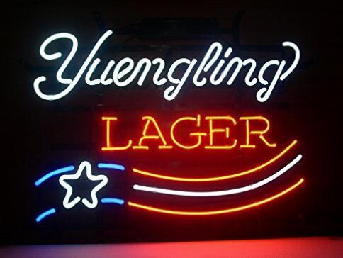 Yuengling Lager Glass Neon Light Sign Beer Bar
