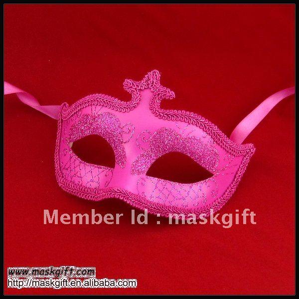 6,5 дюймов Популярная ярко-Розовая леди сверкающая блестящая маскарадный костюм для карнавала маска