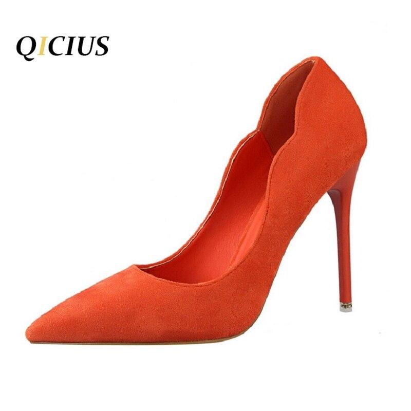 QICIUS Slip on Women Pumps Elegant High Heel Women's Pumps Pointed Toe Ladies Shoes Woman Heels Q0031 с петербург ул бассейная д31 квартиру в этом доме