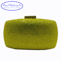 Wholesale Crystal Hard Case Box Clutch Eveing Bag And Clutches For Women S Party Ball Prom