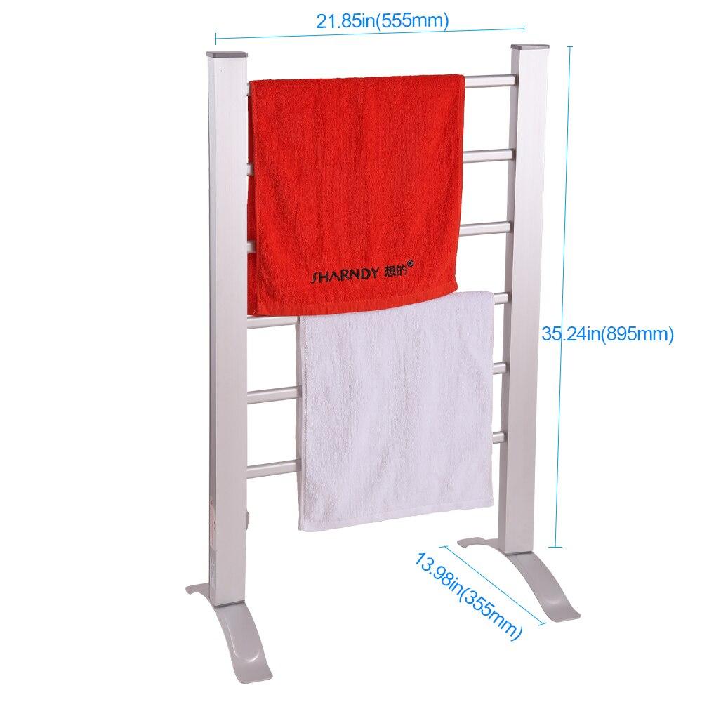 Electric Bathroom Towel Heaters: SHARNDY ETW78 Free Standing Electric Heated Towel Warmer