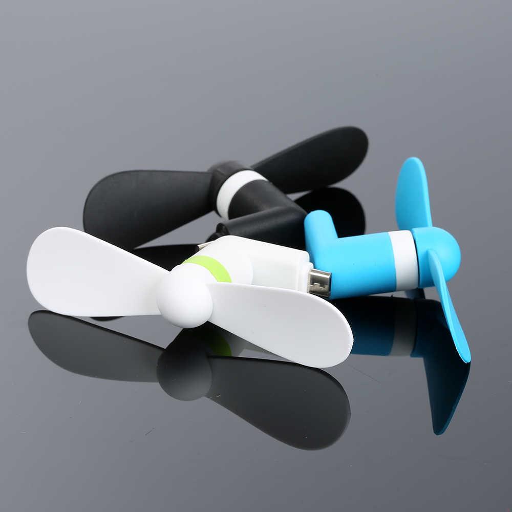 כיס אוהדי USB גאדג 'ט נייד מיקרו USB קירור מאוורר מיני מאוורר אוניברסלי עבור אנדרואיד OTG טלפונים כוח בנק נייד