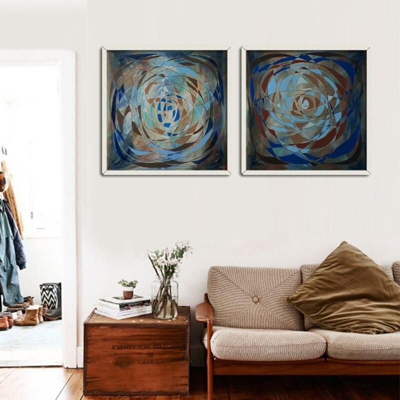 2 pz concetto parete astratta moderna pittura soggiorno camera da ... - Soggiorno Pareti Colorate 2