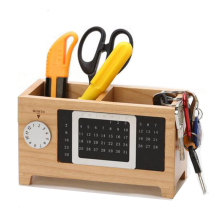 Wooden Desk Organizer with Calendar