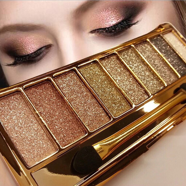 9 Colors Professional Eye Shadow Smoky Eyeshadow Palette Maquillage Long Lasting Waterproof Diamond Bright Eye Makeup
