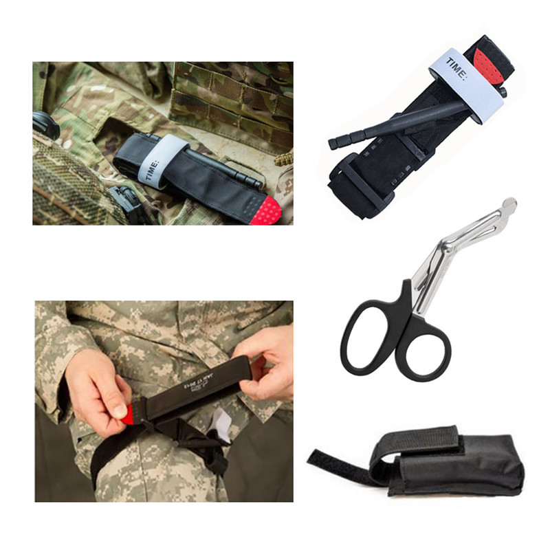 Image 2 - 3Pcs/set Outdoor Portable Emergency Tourniquet Strap Military Tactical Hunting Hiking First Aid Release One Hand Tourniquet Set-in Safety & Survival from Sports & Entertainment