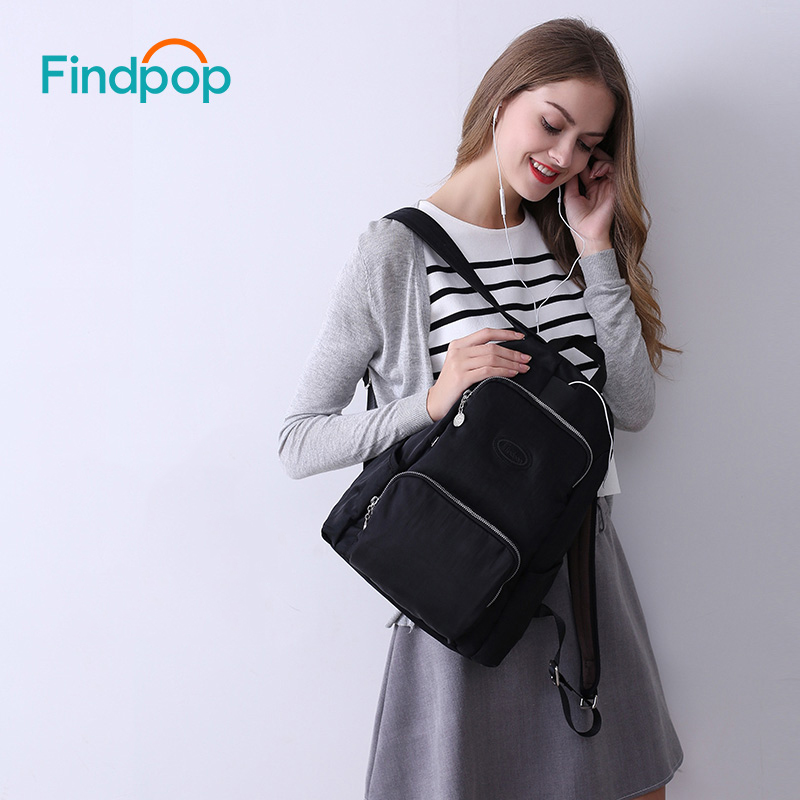 Findpop New Black Anti Theft Backpacks Women Canvas Backpacks Bags For Teenager 2017 Fashion