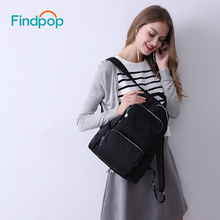 Findpop New Black Anti Theft Backpacks Women Canvas Backpacks Bags For Teenager 2018 Fashion Casual Waterproof ipad Backpacks