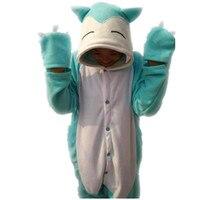 Japoński anime Poke mon tłuszczu Słodkie Snorlax Umbreon Cosplay Costume Onesie Polarowa Piżamy Piżamy Halloween Party Kombinezon