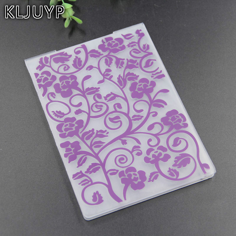 KLJUYP Flowers Plastic Embossing Folders for DIY Scrapbooking Paper Craft/Card Making Decoration Supplies 191