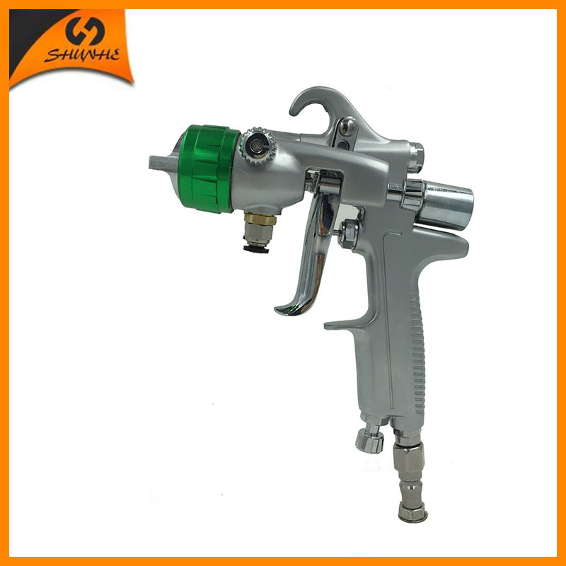 SAT1189 pneuamtic paint guns automotive double nozzle spray gun dual head air nano chrome silver mirror plate spray paint gun цена