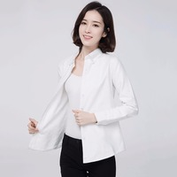 2017 Brand Winter Warm Shirts Women S Shirt Solid Color Female Tops Blouse White Velvet Thick
