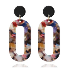 ECODAY Fashion Geometric Acrylic Earrings for Women Big Resin Oorbellen Pendientes Brincos 2019 Statement Jewelry