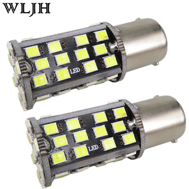 WLJH 2pcs Canbus Car Led 1157 BAY15D Tail Stop Light Brake Signal Lamp for Kia Rio Forte Koup Optima Rondo Soul Sportage Sorento h8 h11 wiring harness socket female adapter car auto wire connector cable plug for hid xenon headlight fog light lamp bulb 2pcs