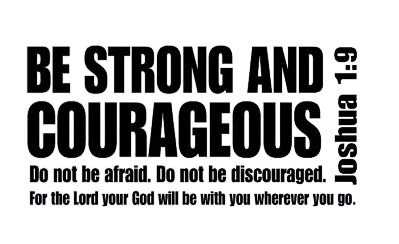 Joshua 19 Be Strong And Courageous Bible Verse Scripture Wall